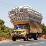 overloaded truck Senagal- Credit Daniel Penney